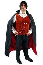 Costume Dracula Gothic Vampire Halloween Men's Transylvania Bloodsucker K38