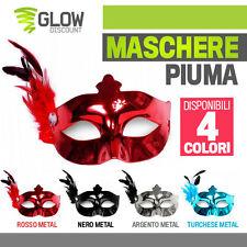 5*MASCHERE CON PIUMA maschera mascherine carnevale venezia halloween party