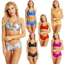 c18019c37ee Women G String Micro Bikini Set Bra Top Brief Shorts Underwear Swimwear  Lingerie