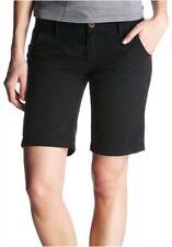 Vans Bermude Gr.5-7 Nuovo Ladies Shorts Nero Dritto Corto Pantaloni di Cotone