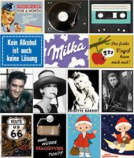 Nostalgic Art Magnete Kühlschrankmagnete Nostalgie Retro Milka Elvis Johnny Cash