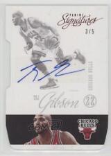 2012-13 Panini Signatures Red Die-Cut #135 Taj Gibson Chicago Bulls Auto Card