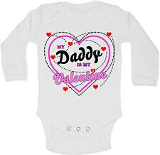 My Daddy Is My Valentine Personalizzati Manica Lunga Bambino Body Body Unisex