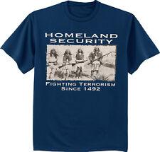 Men's big and tall t-shirt Homeland Security Indians tall tee shirt for men