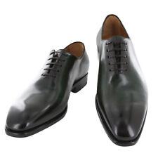 New $1250 Fiori Di Lusso Green Shoes - Wholecut Lace Ups - (NYGRN)