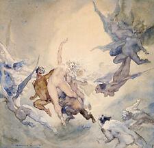 NORMAN LINDSAY THE DREAM GRAVURE ART GICLEE PRINT FINE CANVAS