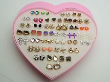 36 Hypoallergenic Cute Fashion Earrings Various Styles Medical Plastic Gemstones