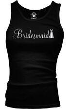 Bridesmaid Metallic Script Dress Wedding Bridal Party Beater Tank Top