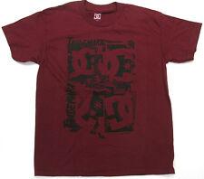 DC Boys T Shirt DC Trademark  Skate 100% Cotton Rouge DC Shoes Brand  DC