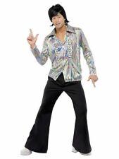 NEW 70's Retro Psychedelic Disco 70's Seventies Men's Retro Fancy Dress Costume