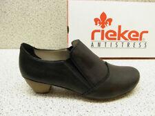 rieker ® reduziert  Leder Pumps schwarz + gratis Premium - Socken (R208)