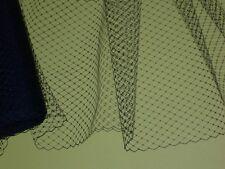 "Black bird cage  hat veil netting french birdcage 9x22""+"