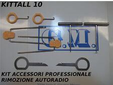 KIT CHIAVI GANCI RIMOZIONE SMONTAGGIO AUTORADIO FORD BMW MERCEDES PORSCHE