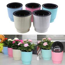 Self-Watering Flower Plant Pot Lazy Flowerpot Planter Home Decor Pinkycolors Us