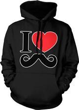 I Heart Mustache Moustache November No Shave Beard Pride Hoodie Pullover