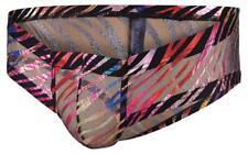 Doreanse 1587 Rainbow Brief mens underwear sexy slip male multi transparent mesh