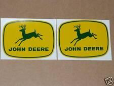 2 JOHN DEERE 4-leg, Green Deer DECALS,  3 inch, Tractor Computer Cut     J1978
