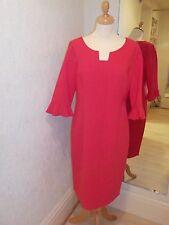 Lizabella Red Frill Cuff Sleeves Dress 2513