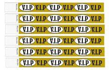 VIP GOLD bracelets pour événements, comme papier fait de Tyvek, boîtes de nuit, soirées etc