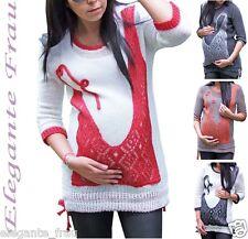 Umstandspullover S/M/L/XL Pullover,Tunika Strick Umstandsshirt  Bluse Pulli  *2k