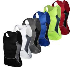 Men Gym Sport Compression Wear Under Shirt Skin Body Armour Base Layer Vest Top