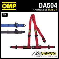 """DA504 OMP ROAD 3 """"Cablaggio cinture 2"""" Cinturini a 3 punti bolt-in - Rosso / Nero / Blu"""