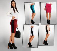 Sexy Para Mujer Casual Stripe falda de cintura alta, Lápiz Tamaños 8-12 Fa70