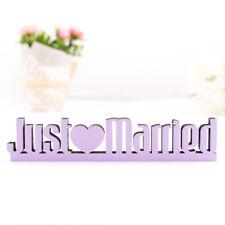 """Kleinlaut 3D-Schriftzug """"Just Married"""" 32 Farben & 3 Größen Geschenk Hochzeit"""