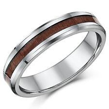 5mm Titan & Holz Ehering Unisex Damen Herren Hochzeit Ring