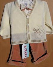 ABITO DA BATTESIMO vestito cerimonia cardigan beige-panna taglia 62+68 cod 1857