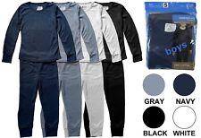 Boy's Thermal Pajama 2 Piece Set 100% Cotton Comfortable Warm Sizes S-XL New