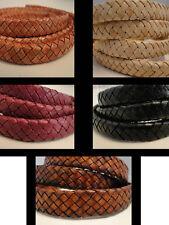 100% Real Oval el cordón de cuero - 9x6mm String Tanga De Encaje De Joyas-Hq