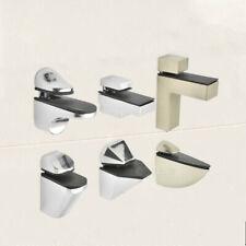 Metal Shelf Holder Bracket Support Glass Wood Shelves Wall Mount Adjustable