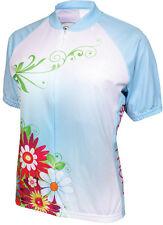 $60.00 Genuine World Jerseys Women's Flower Power Cycling Jersey: Blue NEW!