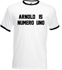 Según lo usado por Arnold Schwarzenegger es numero uno para hombres Camiseta Gimnasio De Entrenamiento Top