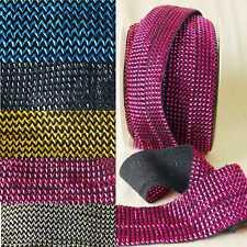 Stretch Elastic Metallic Lurex Stud Tape Ribbon for Belts & Clothes