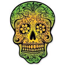Sugar Skull Day of the Dead Car Vinyl Sticker - SELECT SIZE