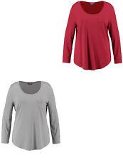 Samoon legeres Basic Longsleeve Shirt by Gerry Weber Brusttasche Neu Damen Gr.