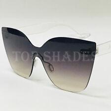 Fashion Oversized Big Cat Eye Frameless Women NEW Style Oceanic Lens Sunglasses