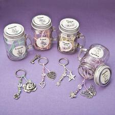 Sentimental Flowers Mason Jar Keychain Bridal Shower Wedding Favors