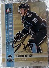 Nashville Predators Gabriel Bourque Signed 11/12 ITG H&P Milwaukee Admirals Card