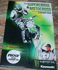 "RYAN VILLOPOTO Signed 2011 SX MX 450 Champion POSTER 12x18"""