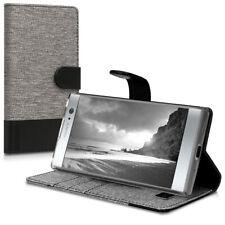 WALLET Tessuto Custodia Protettiva per Sony Xperia xa2 Cover Case Guscio Borsa Flip