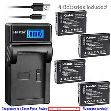 Kastar Battery LCD USB Charger for Panasonic DMW-BCG10 & Panasonic Lumix DMC-ZS3