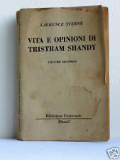 VITA E OPINIONI DI TRISTRAM SHANDY  L Sterne  anno 1958