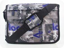 MESSENGER BAG Spooky Umhängetasche grau braun blau Schultertasche A4 NEU