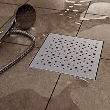 VILSTEIN© Duschrinne Edelstahl Ablaufrinne Duschablauf Abfluss Quadrat - Kreise
