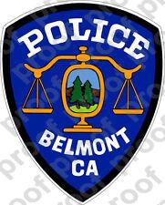STICKER BELMONT POLICE DEPARTMENT