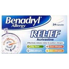 Benadryl Allergy Relief 24 Capsules | Hayfever | Allergies 1 2 3 6 12 Packs