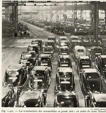 USINE RENAULT ATELIER CONSTRUCTION AUTOMOBILES EN GRANDE SERIE  IMAGE 1949